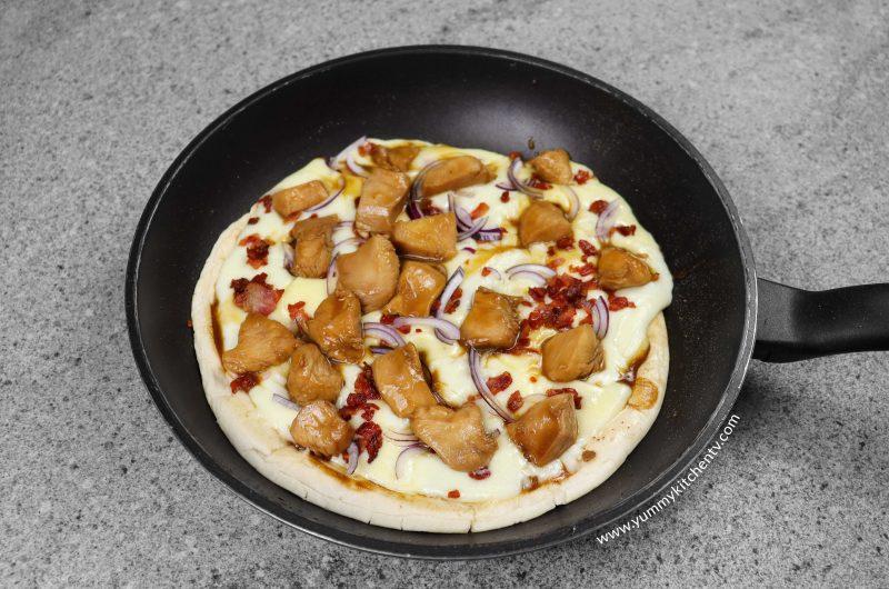 No oven Chicken Teriyaki Pizza