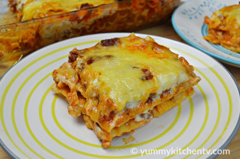 Beef Lasagna (No-Oven)