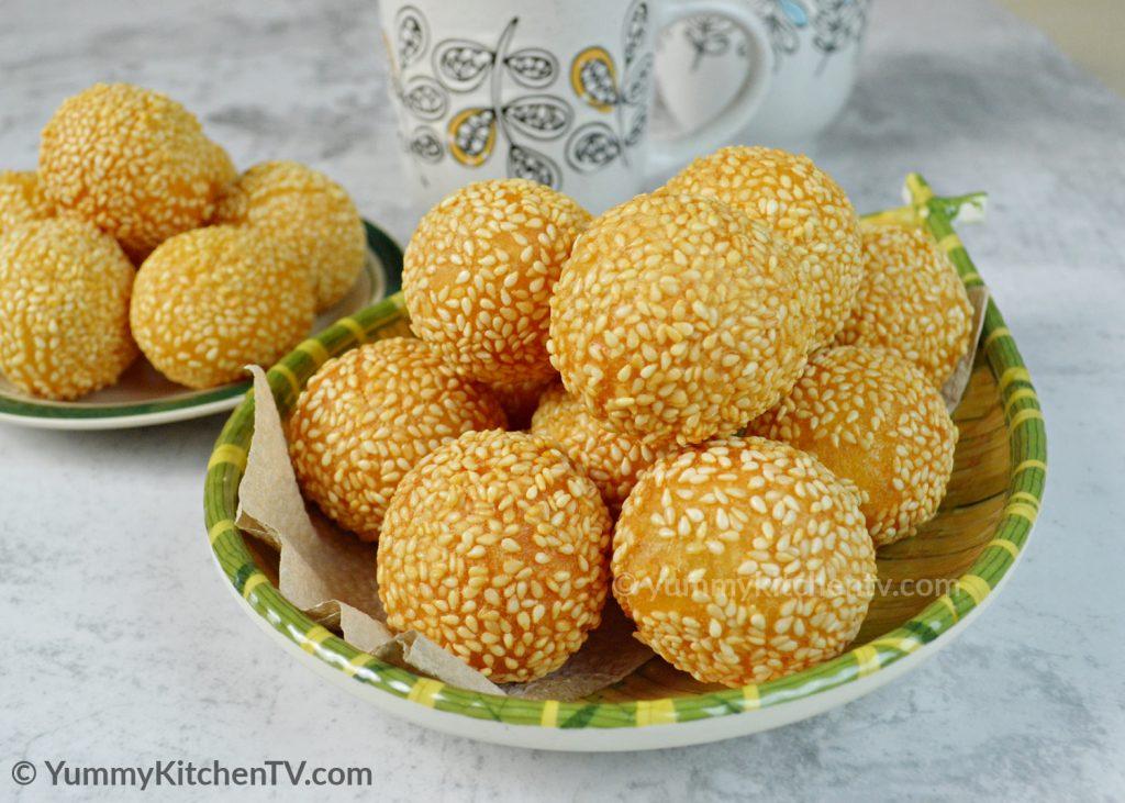 Cheesy Buchi (Sesame Balls)