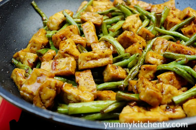 Stir-fry Beans and Tofu