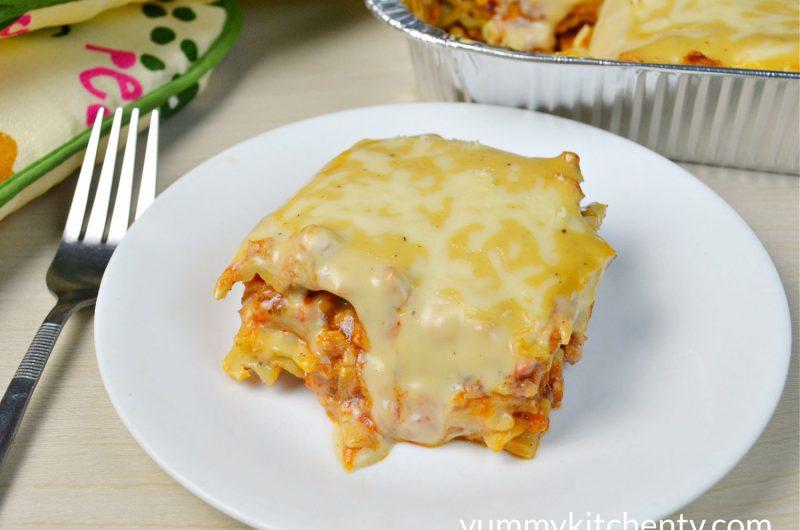 No-Oven Chicken Lasagna
