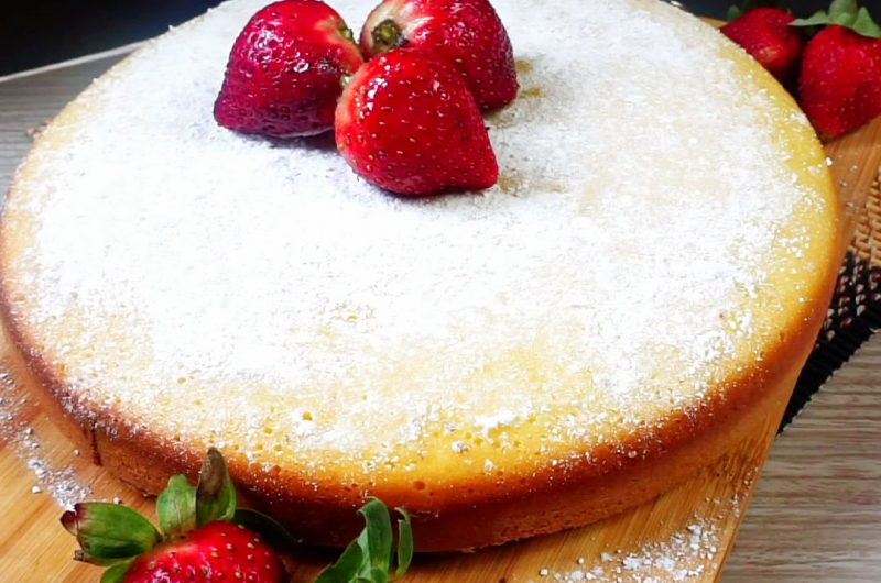 Condensed Milk Cake (No-Oven)