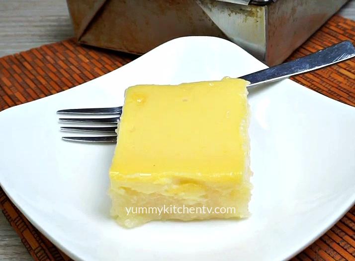 Cassava Custard Cake (No-Oven)