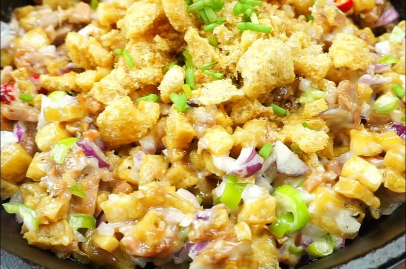 Tuna Sisig with Crispy Tofu