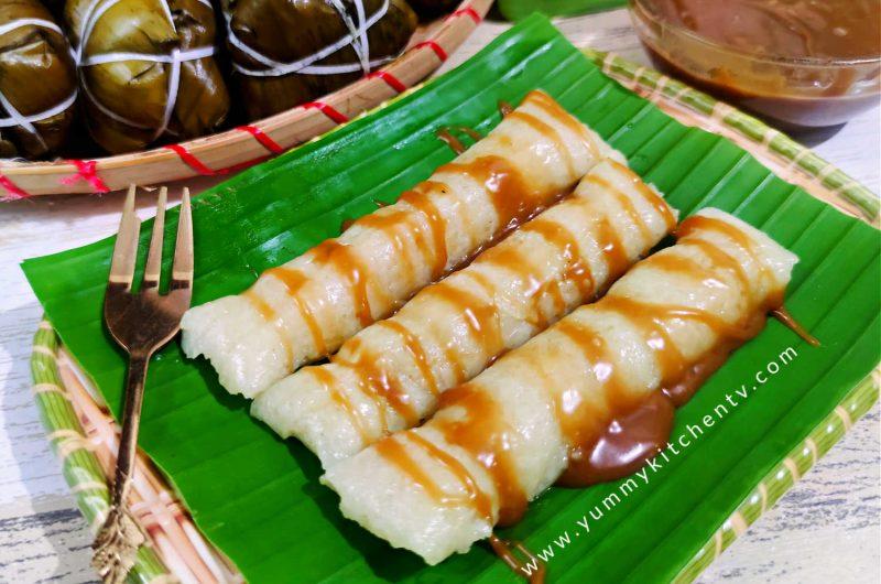 Suman Malagkit with Latik Sauce