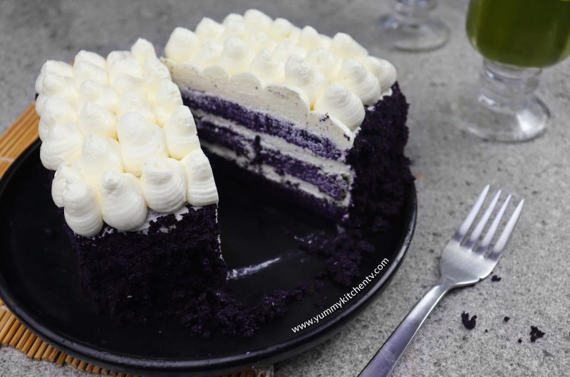 No Oven Ube Cake for two