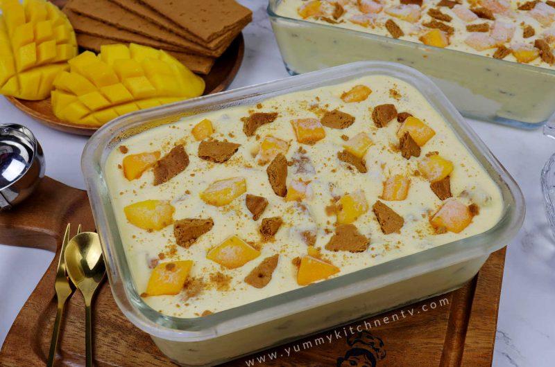 Homemade Mango Graham Ice Cream