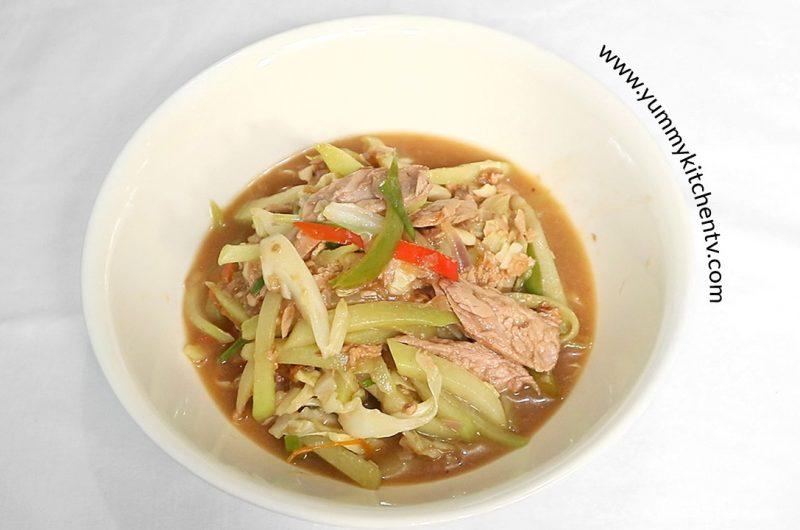 Tuna with Sayote and Cabbage